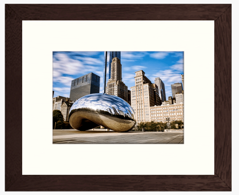 Single Mat Phot Print in Frame