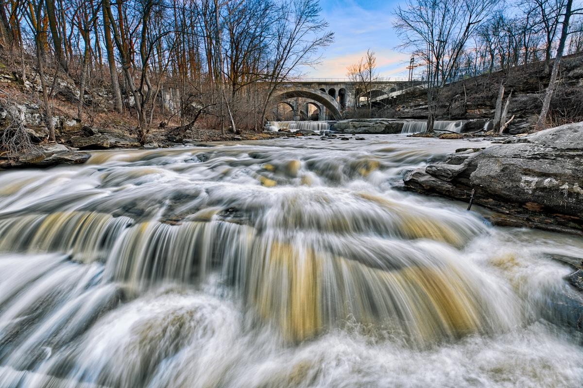 Berea Falls Waterfall in Berea, Ohio