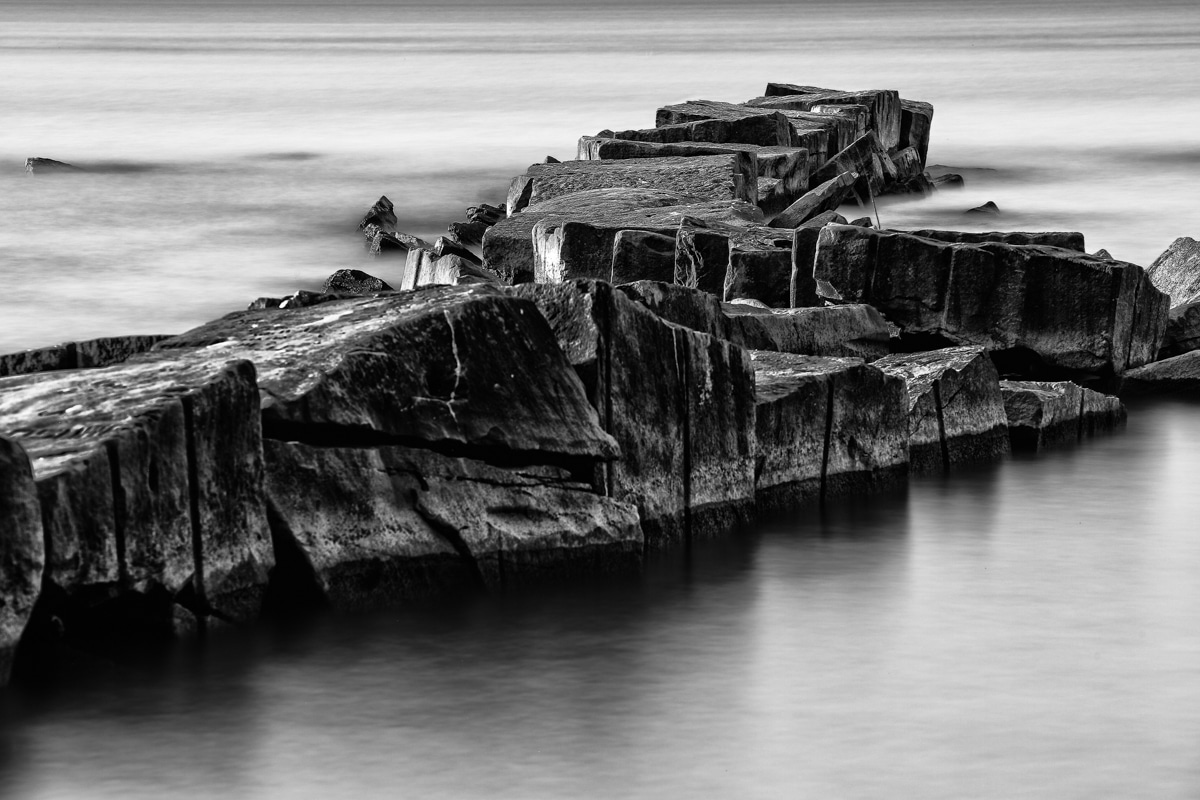 Rock Pier at Huntington Beach in Clevleland, Ohio